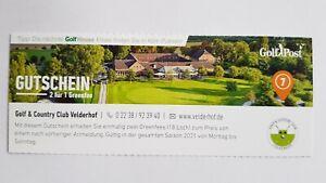 Golf Greenfee-Gutschein 2für1 Golf & Country Velderhof - Saison 2021