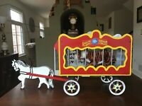 VINTAGE 1940's BARNUM & BAILEY CIRCUS WAGON & HORSE - HANDMADE HOMEMADE FOLK ART