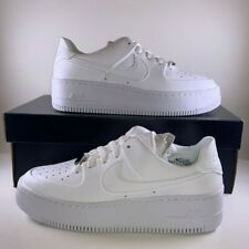 Nike Air Force 1 Sage Low Triple White Women's 7.5 New AF1 AR5339-100