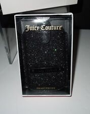 NIB Juicy Couture Smart Phone Black/Multi Glitter Case YTRUT039