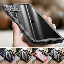 For iPhone 11 Pro Max/XS/XR/8/7/SE 2nd Clear Shockproof Bumper Rubber Case Cover