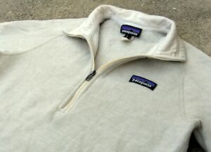 PATAGONIA Better Sweater Pullover Fleece Jacket w logo women's Sz M Raw Linen