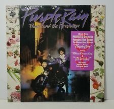 PRINCE Purple Rain orig vinyl w/POSTER & shrink +lyric LP 1984 synth funk