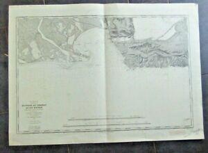 Carte marine ancienne Golfe de Fos Bouches du Rhône  Cap Mejean   1903