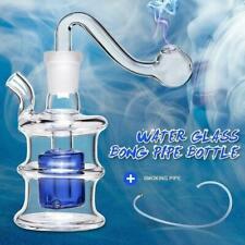 Glass Hookah Bongs Water Pipe Smoking Pipe Shisha Tobacco 19cm Bucket Shape