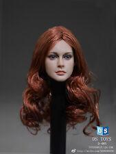 """DSTOYS 1:6 Female Head Sculpt Long Curls FOR 12"""" Women Phicen Body Figure D-005"""