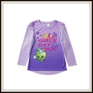 Shopkins Long Sleeve T Shirt BNWT Sizes 5 6 8 10 Party Birthday Christmas NEW