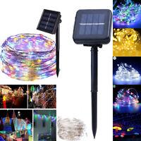 50/100/200 LED Solar String Fairy Light Waterproof Outdoor Garden Xmas Decor LOT
