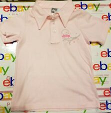 JEEP Girls Shirt Size 2 Kids POLO NEW 100% Combed Cotton Made in the USA Pink