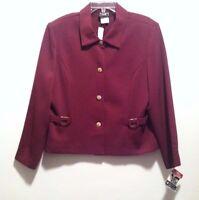 Vtg Southern Lady Blazer Suit Jacket Dressy Ladies Size 18 Purple VISA Milliken