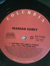 """Mariah Carey-Anytime You Need a Friend 12"""" X 2 Vinly Pop Hit"""