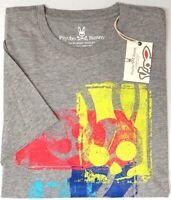 NEW $50 Psycho Bunny Mens Short Sleeve Tee Shirt Gray Pima Cotton NWT Grey