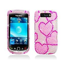 Pink Diamond Snap-On Case Cover with Heart Design for Blackberry Torch 9800 9810