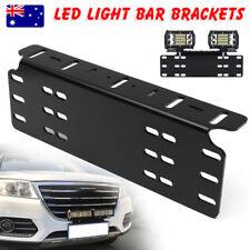 Number Plate Holder Mount Bracket Car Led Driving Light Bar Spot Licence Free