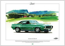 CHEVROLET CAMARO YENKO 427  Fine Art Print A3 size - 1969 Big-block V8 Super Car