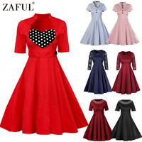 Vintage Rockabilly 50s 60s Pin Up Cocktail Party Evening Retro Swing Dance Dress