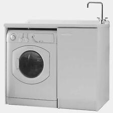 Coprilavatrice lavatoio design bianco 107x61 lavatrice a sinistra per lavanderia