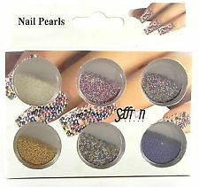 Saffron Nails Pearls New Boxed Mixed Colours