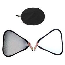Runde/Dreieckige Reflektoren fürs Fotostudio in Silber mit Tasche