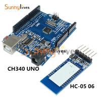 USB Bluetooth Base Board HC-05 UNO R3 ATmega328P CH340G Compatible to Arduino