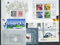 BRD alle Blöcke aus Jahrgang 1999; Block 46, 47, 48, 49, 50, 51 postfrisch #m604