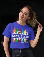 Men's Personalized Teacher T Shirt Crayon Shirts Custom T Shirt Custom Teacher S