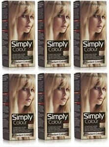 6 x Mellor & Russell Simply Colour 9.0 Natural Light Blonde Hair Dye Grey Cover