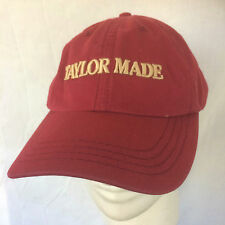 TAYLOR MADE THOROUGHBRED HORSE FARM BASEBALL CAP HAT RED KENTUCKY BREEDER