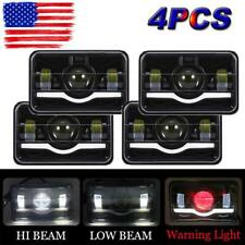 "4PCS 4x6"" 75W LED Hi/Lo Beam Headlight for Peterbilt Kenworth T800 T400 T600"
