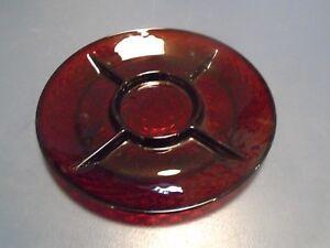 Luminarc 5 Part Relish Dish CRIS D'ARQUES/DURAND Arty-Red Arcoroc