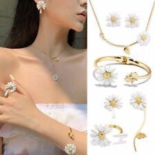 Trendy Daisy Bee Tassel Necklace Ring Flower Bracelet Earrings Jewelry Set Women