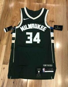 Nike Milwaukee Bucks Giannis Antetokounmpo Icon Edition Authentic Jersey Size 40