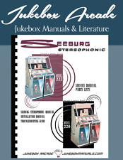 New! Seeburg 220, 222 Jukebox Manual ovr260 CrystalClear Pages w/Troubleshooting