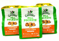 180 Count - Greenies Pill Pockets Capsule Size, Cheese Flavor (3 Bags)