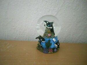 """Kleine Schneekugel """"Orca"""" (Kunstharz/Glas) / Small Snow Globe """"Orca"""""""