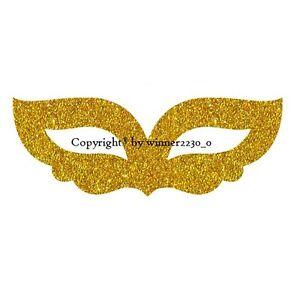 Sparkling Premium Quality Glitter GOLD CARNIVAL MASK Envelope Bag Seal Sticker