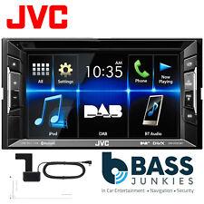 "JVC KW-V235DBTE 6.2"" Touchscreen Double Din DAB Radio DVD USB iPhone Car Screen"
