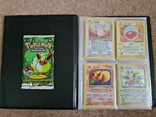 Complete Pokemon Jungle Set With Sealed 1st Edition Booster Pack & base set bind