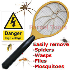 Bug Zapper Racket SPIDER Mosquito FLY Swatter Insect Killer Electric Bat Mesh UK