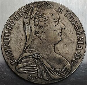 1 Thaler 1780SF Maria Theresia Margraviate of Burgau Austro-Hungarian Very Rare!