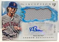 Andrew Benintendi 2017 Topps Inception Jersey Patch RC Autograph Auto #'d 95/199