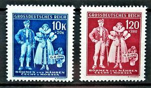 WW2 1944 GENUINE 3rd REICH ERA GERMAN B.u M. 2 X STAMPS MNH NEVER USED