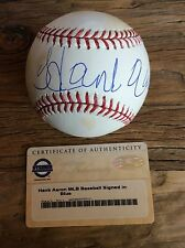 HANK AARON SIGNED AUTOGRAPHED OMLB STEINER SPORTS