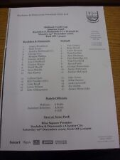 14/12/2009 rushden e diamanti YOUTH V Walsall Youth [MIDLAND Youth Cup] (L
