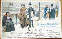 1902 French Advertising Postcard: Journal des Familles-Paris-Well-Dressed People