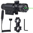 Tactical Hunting Rifle Green Light Gun Laser Sight Dot Scope Adjustable Mount