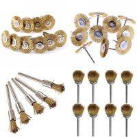 10Pcs Steel Wire Brush Kit Set Flat Brass Brush Cup Flat Wheel Wire Wheel S N9T9