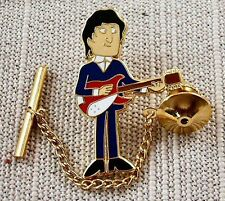 """"""" Beatles """" John Lennon Tie Tack Pin with Chain Clasp"""