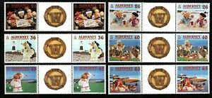 Alderney Stamps 2000 SG A146-A151 A Wombling Holiday Gutter Pairs Mint MNH