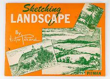 Vintage 1947 Pitman Sketching Landscape Art Manual Book by Victor Perard